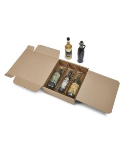 Χαρτοκιβώτια για φιάλες Korrvu-Wine Sealed Air | 3 Φιαλών