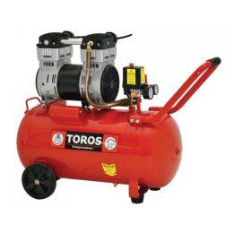 Αεροσυμπιεστής μονομπλόκ χαμηλού θορύβου χωρίς λάδι 50LT/1.55HP Toros